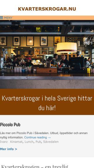 Mobile preview of kvarterskrogar.nu