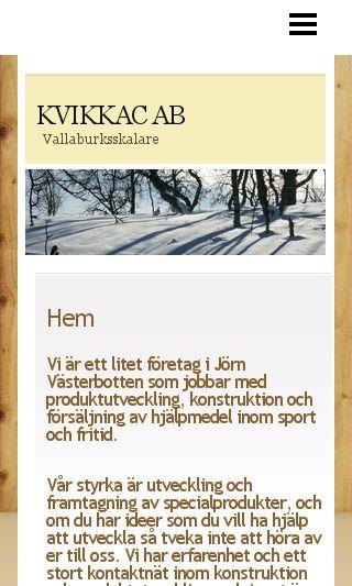 Mobile preview of kvikkac.se