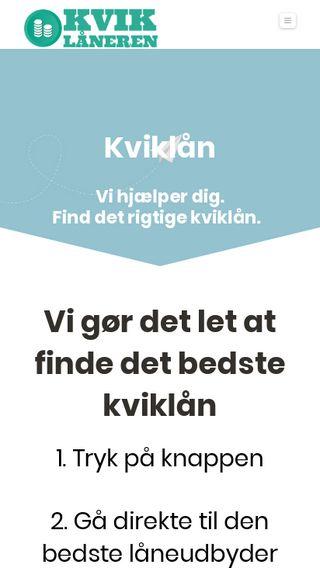Mobile preview of kviklaaneren.dk