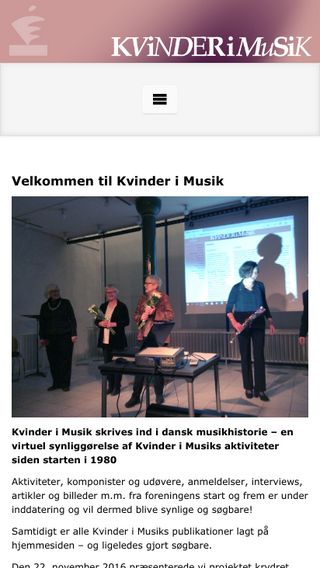 Mobile preview of kvinderimusik.dk