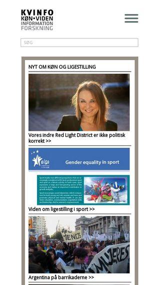 Mobile preview of kvinfo.dk