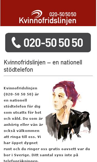 Mobile preview of kvinnofridslinjen.se
