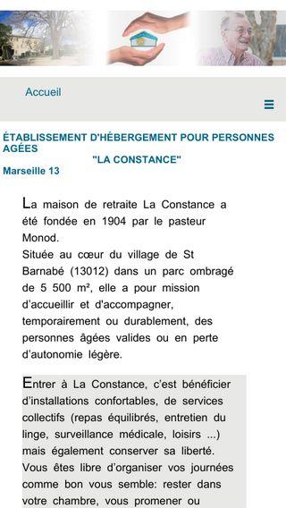 Mobile preview of la-constance.fr