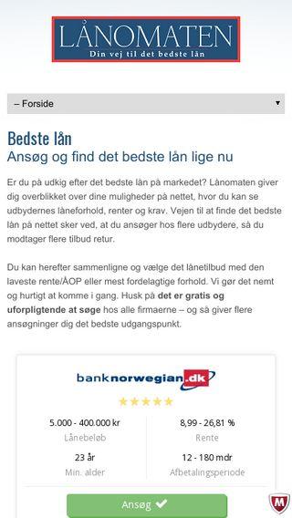 Mobile preview of laanomaten.dk