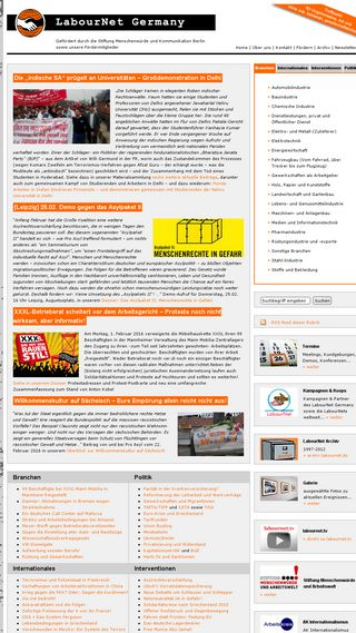 Mobile preview of labournet.de