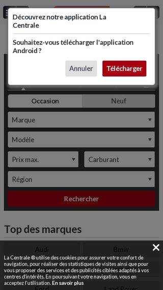 Mobile preview of lacentrale.fr