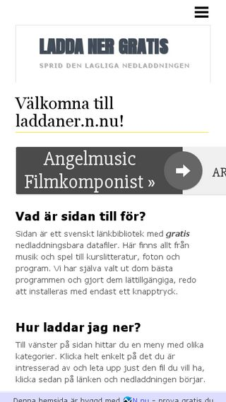 Mobile preview of laddaner.n.nu
