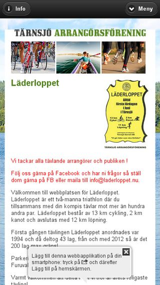Mobile preview of laderloppet.nu