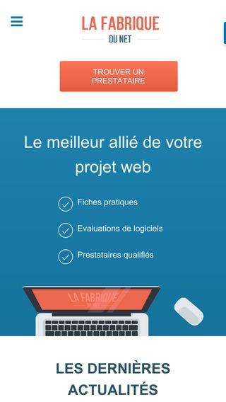 Mobile preview of lafabriquedunet.fr