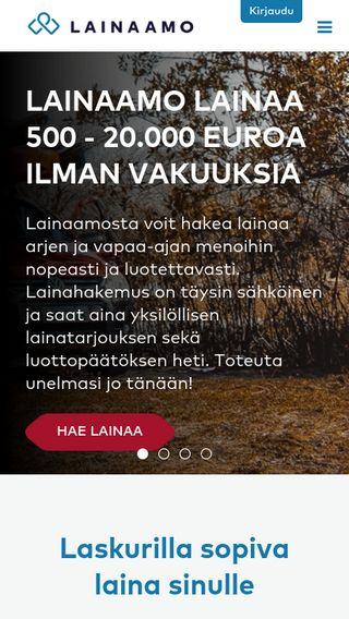 Mobile preview of lainaamo.fi