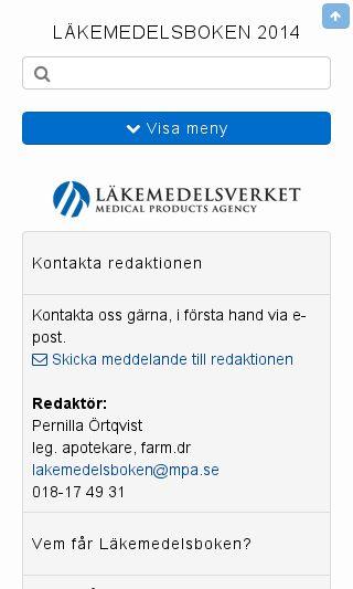 Mobile preview of lakemedelsboken.se