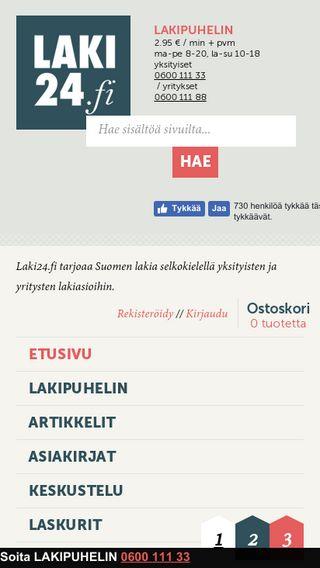 Mobile preview of laki24.fi