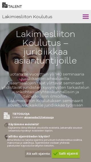 Mobile preview of lakikoulutus.almatalent.fi