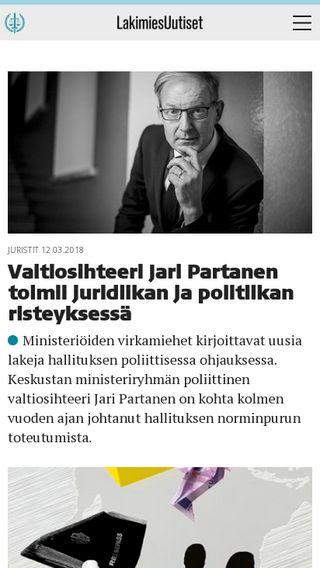 Mobile preview of lakimiesuutiset.fi