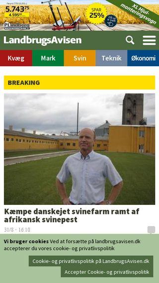 Mobile preview of landbrugsavisen.dk