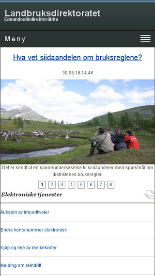 Mobile preview of landbruksdirektoratet.no