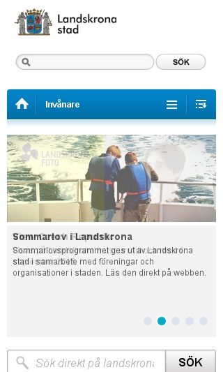 Mobile preview of landskrona.se