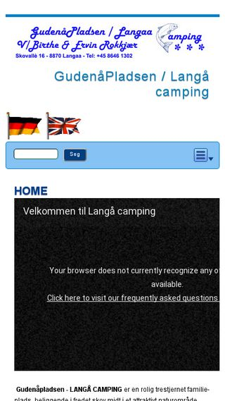 Mobile preview of langaa-camping.dk