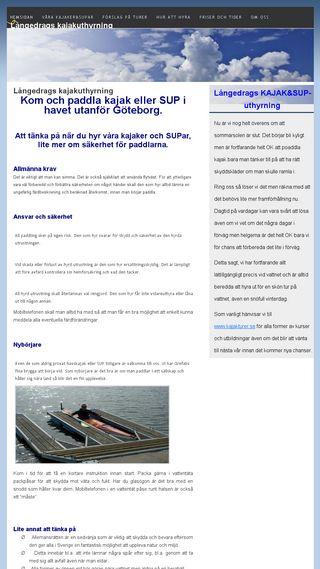 Mobile preview of langedragskajakuthyrning.n.nu