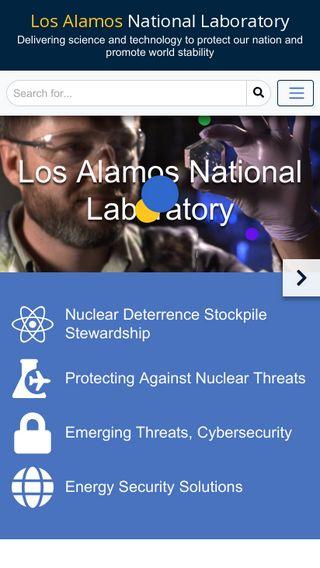 Mobile preview of lanl.gov