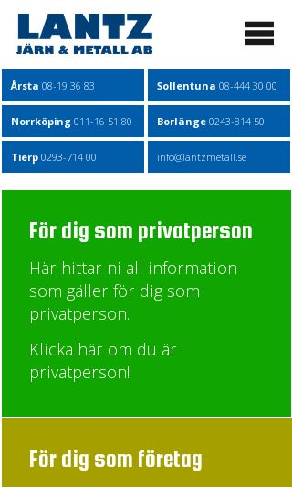 Mobile preview of lantzmetall.se