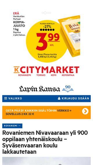 Mobile preview of www2.lapinkansa.fi