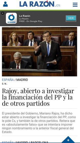 Mobile preview of larazon.es
