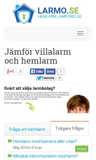 Mobile preview of larmo.se