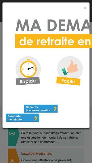 Mobile preview of lassuranceretraite.fr
