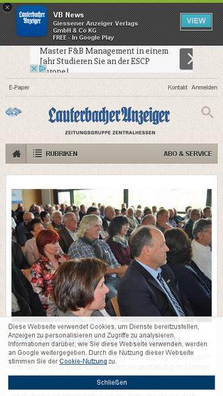 Mobile preview of lauterbacher-anzeiger.de