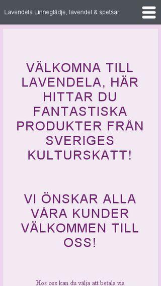 Mobile preview of lavendela.se