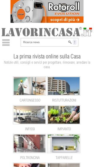 Mobile preview of lavorincasa.it