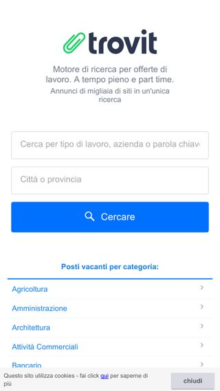 Mobile preview of lavoro.trovit.it