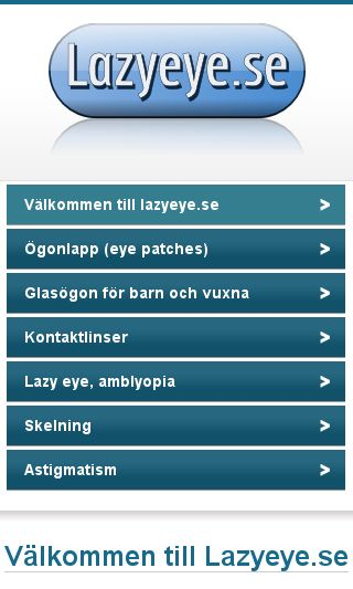 Mobile preview of lazyeye.se