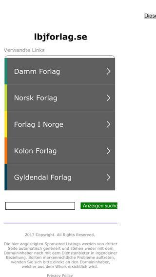 Mobile preview of lbjforlag.se