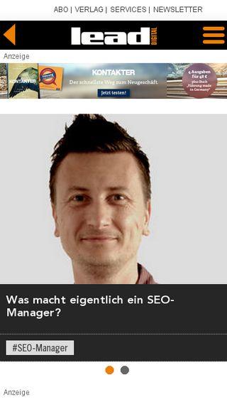 Mobile preview of lead-digital.de