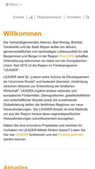 Mobile preview of leader-rhein-eifel.de