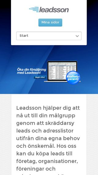 Mobile preview of leadsson.se