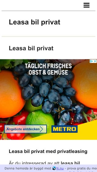 Mobile preview of leasabilprivat.n.nu