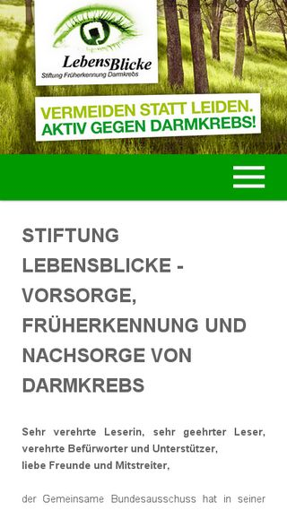 Mobile preview of lebensblicke.de