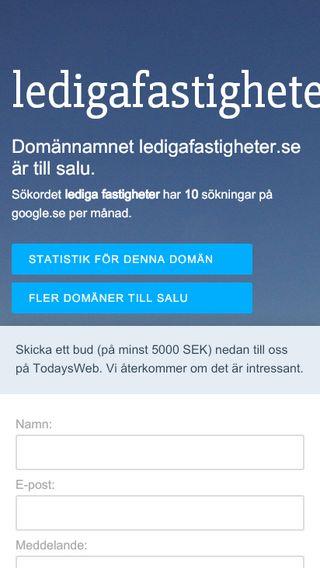 Mobile preview of ledigafastigheter.se