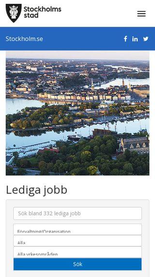 Mobile preview of ledigajobb.stockholm.se