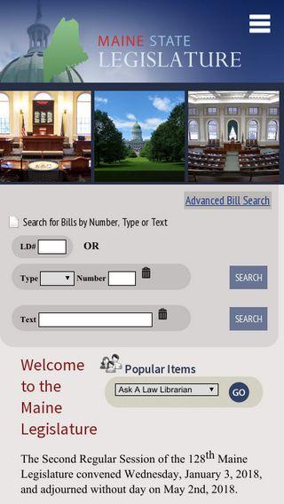 Mobile preview of legislature.maine.gov