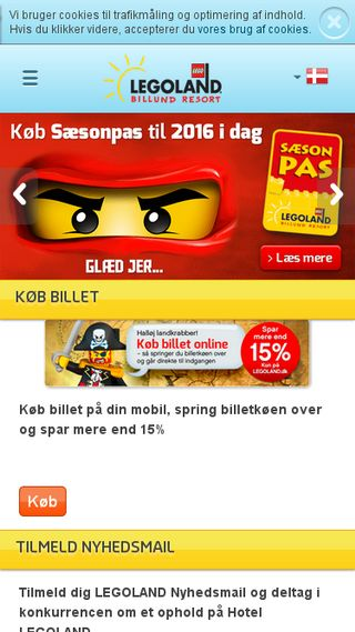 Mobile preview of legoland.dk