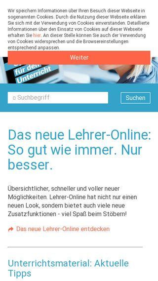 Mobile preview of lehrer-online.de