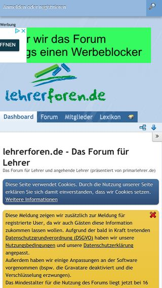 Mobile preview of lehrerforen.de