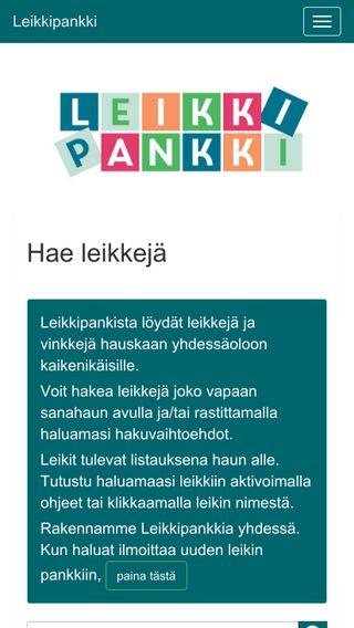 Mobile preview of leikkipankki.leikkipäivä.fi