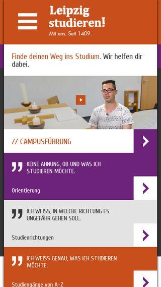 Mobile preview of leipzig-studieren.de