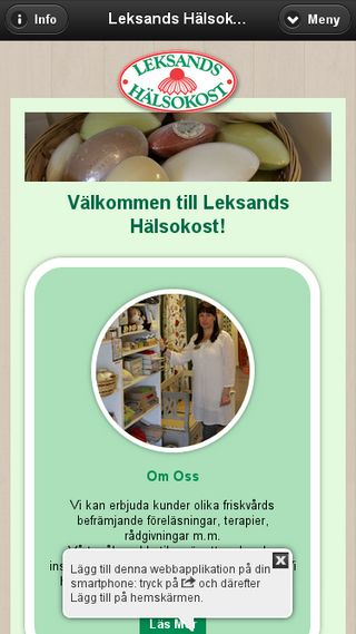 Mobile preview of leksandshalsokost.se