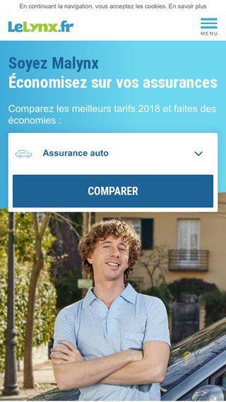 Mobile preview of lelynx.fr